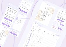 Planning system for event. UI/UX design. Website/M