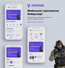 Мобильное приложение Киберспорт
