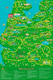 Карта для детского туризма в Нидерландах