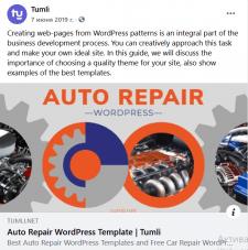Auto Repair Wordpress Template  Tumli