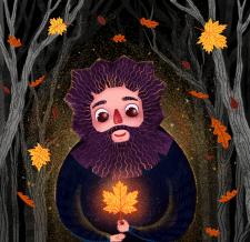 autumn bearded man