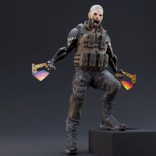 3д модель высокодетализированного персонажа