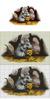 разрабатка схемы для вышивания нитками