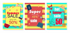 Summer sale cards