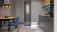 Дизайн-проект 1к квартиры. Кухня-гостиная