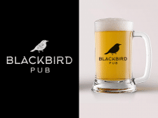 Логотип для паба BlackBird