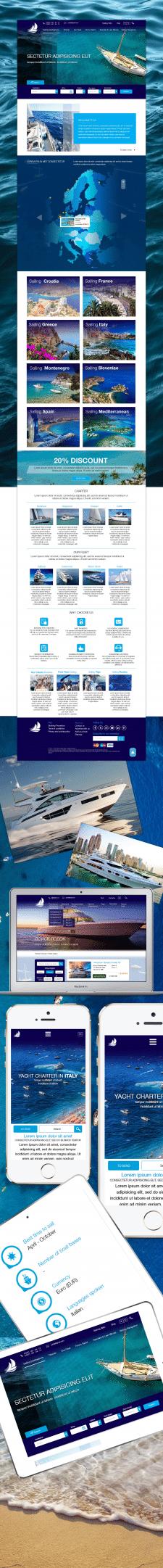 Разработка тревел портала Yacht Charter Line