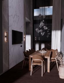 3d визуализация гостиной, дизайн интерьера