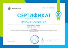 Сертификат: Основы HTML и CSS