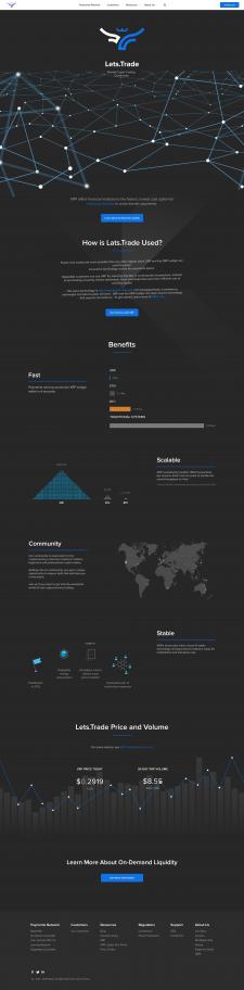 Дизайн сайта крипто компании