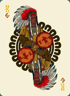 Spielkarten Indians- Farbig9