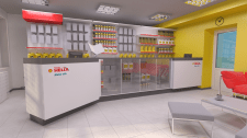 "Дизайн интерьера маркета ""Shell"""