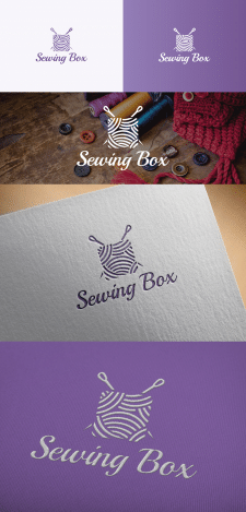 Логотип для Sewing Box на конкурс