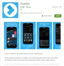 Pushfor - безопасная передача файлов и информации