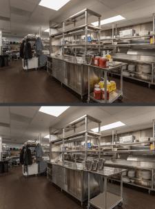 Обработка фотографий кухни ресторана