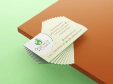 Визитки для магазина органических продуктов