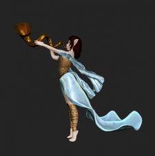 персонаж в 3D, иллюстрация