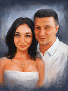 Портрет молодоженов