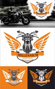 Логотип компании Millenium по продаже мото