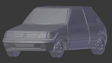 Модель peugeot 205 GTI