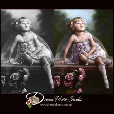 ретушь и оцветнение старой фотографии