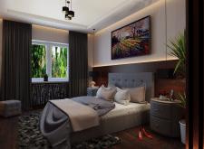 Визуализация интерьера спальни