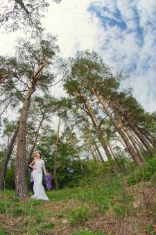 пример свадебной фотографии (съемка и обработка)