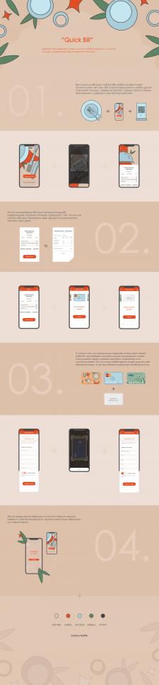 """UI/UX дизайн мобильного приложения """"Quick Bill"""""""