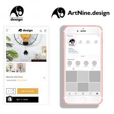 Логотип ArtNine. design