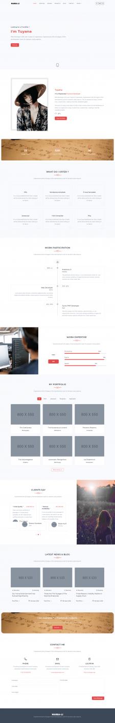 Marsa-li - Portfolio Wordpress Template