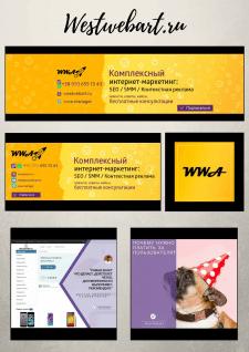 Дизайн шапок VK, FB и аватара // westwebart.ru