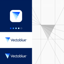 Blue V Letter Logo