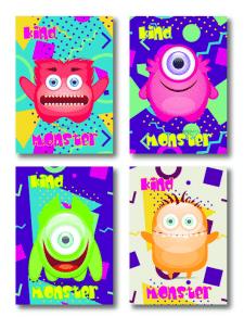 Обложки блокнотов для мальчиков Монстры