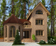 Фасады дома английский стиль II