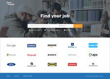 Дизайн+вёрстка портала по поиску работы