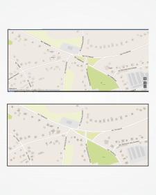 Відмальовка фрагмента карти міста