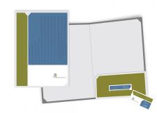 Папка + визитка. Европейская строительная группа.