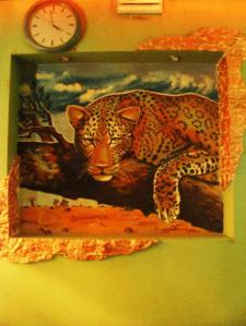 """Леопард (настенная роспись в кафе""""Лимпо"""")"""