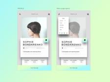 UX/UI design app - Profile page