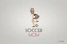 Логотип группы поддержки мам маленьких футболистов