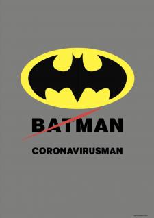 "Плакат ""Coronavirusman"""