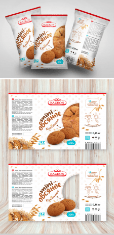 Упаковка Овсянного печенья