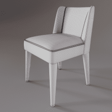 3D Model Meridiani Kita Chair