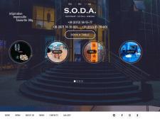 Сайт для ресторана Soda