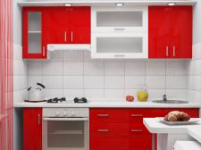 Яркое решение для маленькой кухни