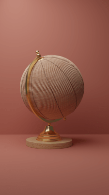 Rattan Globe Decorative Object