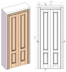Чертежи, 3d модель - Межкомнатные двери из массива