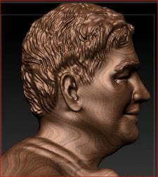 портрет, рельеф с фотографии на подарочную медаль