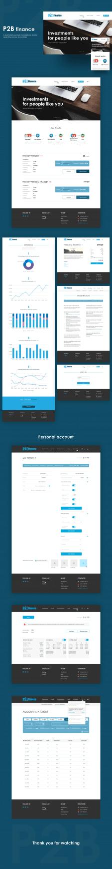 "Дизайн сайта для ""P2B Finance"""