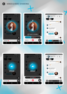 Telegram chat screen design
